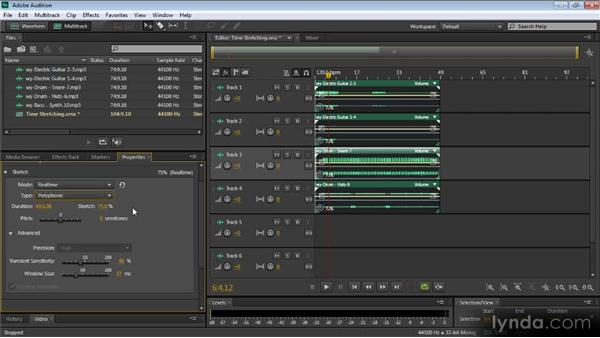 Time stretching: Audition CS6: New Features Workshop