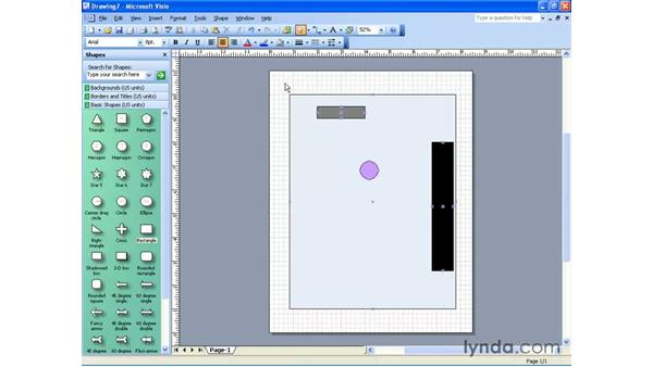 drawing from a template : Visio 2003 Essential Training