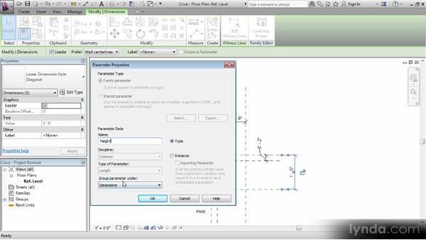 Adding and understanding labels (parameters): Revit Families Workshop