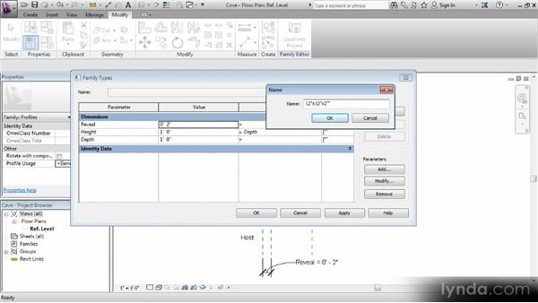 Adding types: Revit Families Workshop