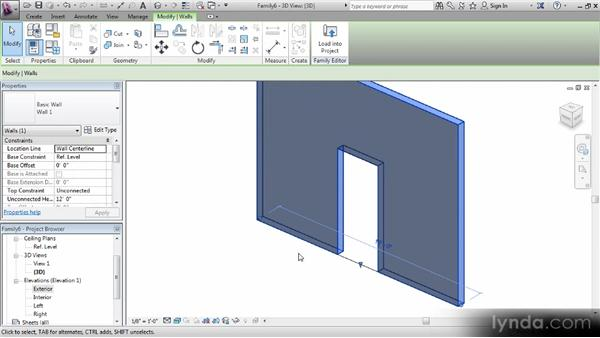 Editing the opening: Revit Families Workshop