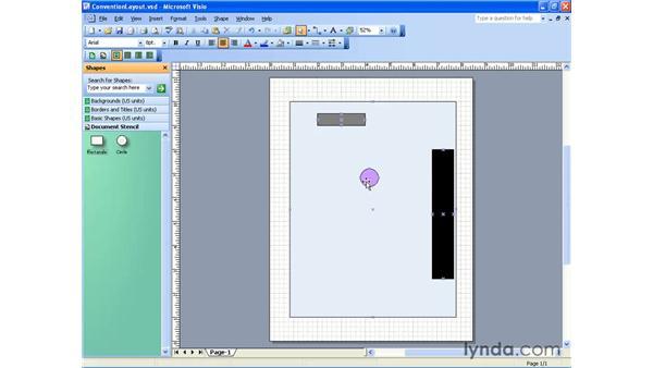 the stencil toolbar: Visio 2003 Essential Training
