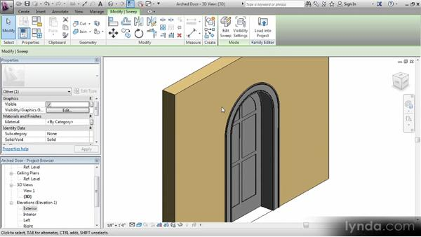 Adding an insert and configuring material: Revit Families Workshop