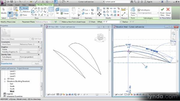 Creating an in-place mass: Revit Families Workshop