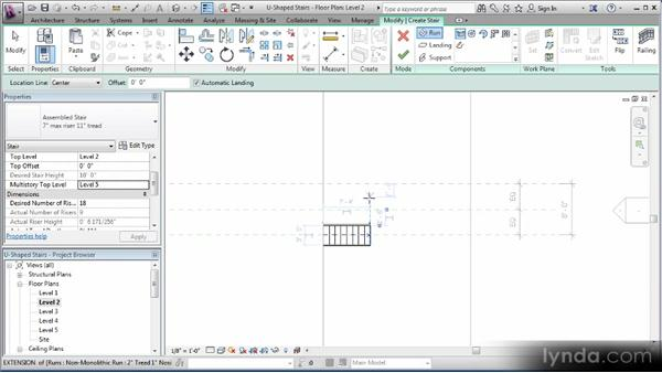 Creating stairs and modifying stair boundaries: Revit Stairs Workshop