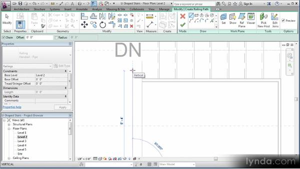 Configuring railings: Revit Stairs Workshop