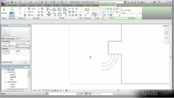 Drafting stairs with model lines: Revit Stairs Workshop