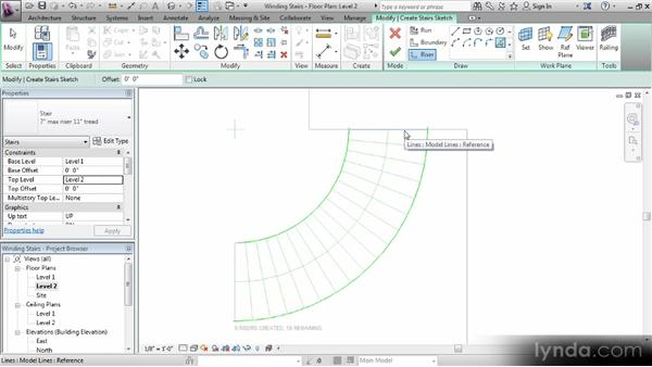 Creating a winding staircase: Revit Stairs Workshop