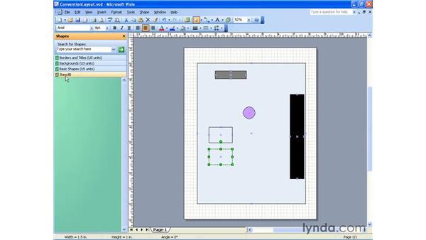 creating a new stencil: Visio 2003 Essential Training