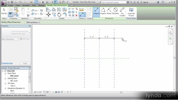 Adding the reference planes: Revit Stairs Workshop