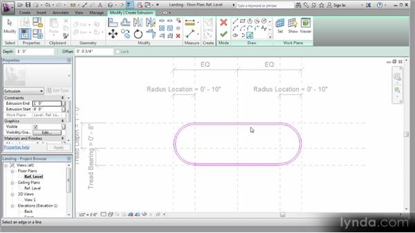 Adding 3D cells to reference planes: Revit Stairs Workshop