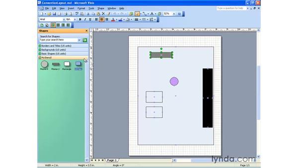 adding shapes to a stencil: Visio 2003 Essential Training