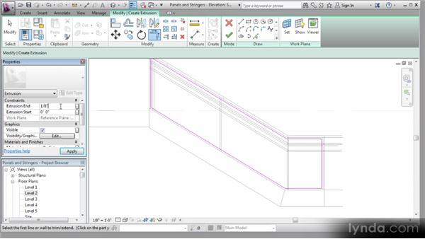 Adding the in-place family: Revit Stairs Workshop