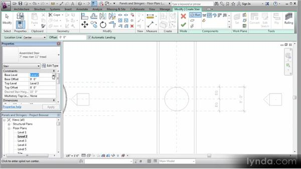 Creating a spiral staircase: Revit Stairs Workshop