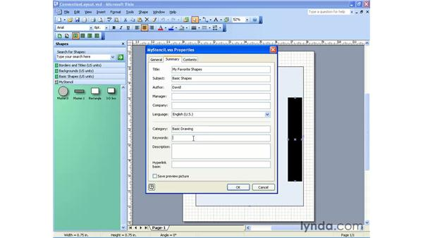 editing a stencil: Visio 2003 Essential Training