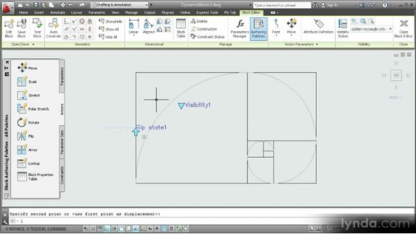 Adding a flip parameter and flip action: Customization Techniques with AutoCAD 2013