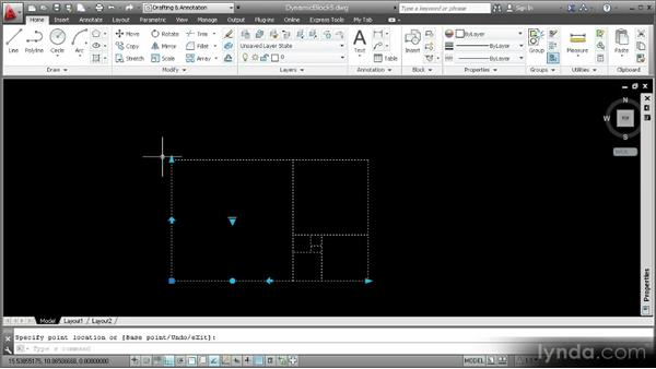 Adding multiple parameters and actions: Customization Techniques with AutoCAD 2013