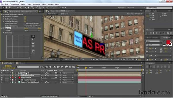 Refining the motion graphics: VFX Techniques: Building Replacement with After Effects