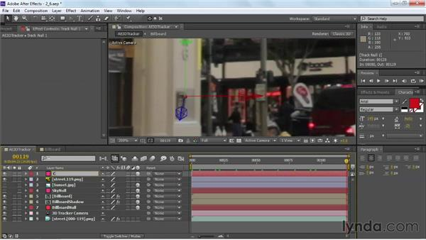 Tracking static foreground elements: VFX Techniques: Building Replacement with After Effects