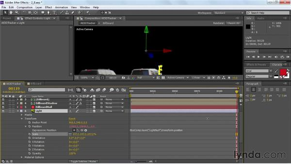 Finishing tracking the foreground elements: VFX Techniques: Building Replacement with After Effects