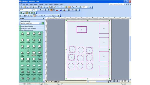 modifying shapes: Visio 2003 Essential Training