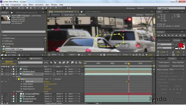 Restoring foreground elements: VFX Techniques: Building Replacement with After Effects