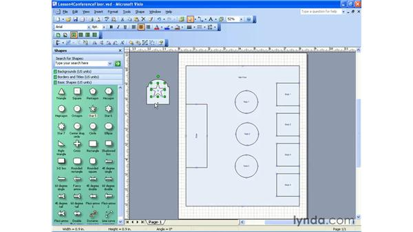 selecting and ordering : Visio 2003 Essential Training