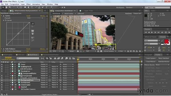 Color grading for sunset: VFX Techniques: Building Replacement with After Effects