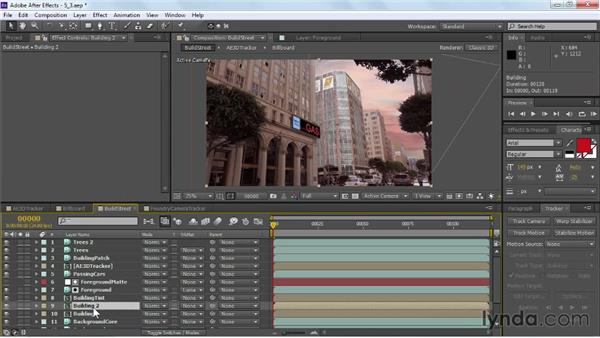 Color grading a matte painting: VFX Techniques: Building Replacement with After Effects