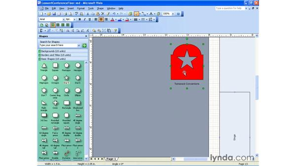 grouping and ungrouping: Visio 2003 Essential Training