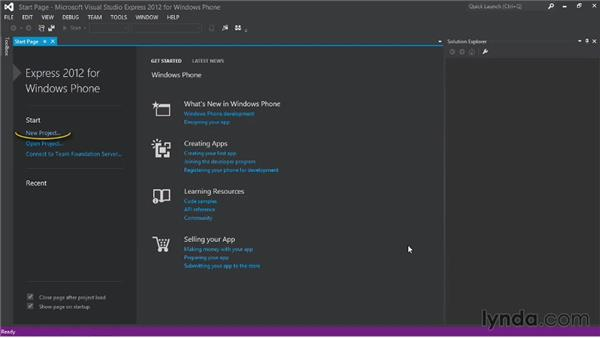 Creating a Windows Phone project: Up and Running with Windows Phone 8 Development