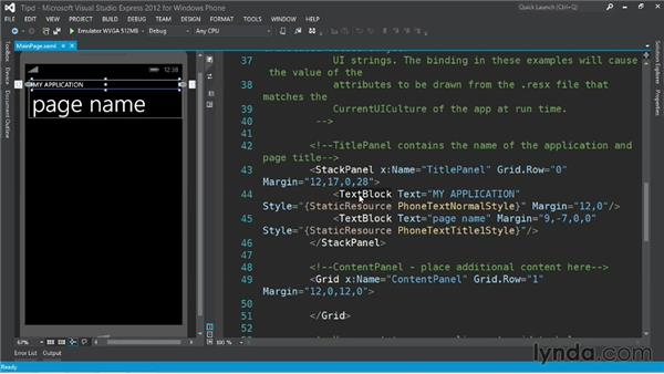 Customizing the default application layout: Up and Running with Windows Phone 8 Development