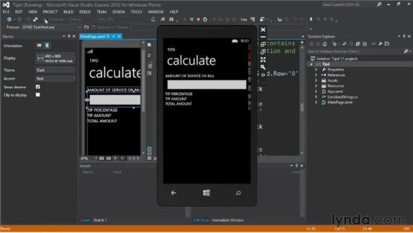 Adding text input and constraining input type: Up and Running with Windows Phone 8 Development
