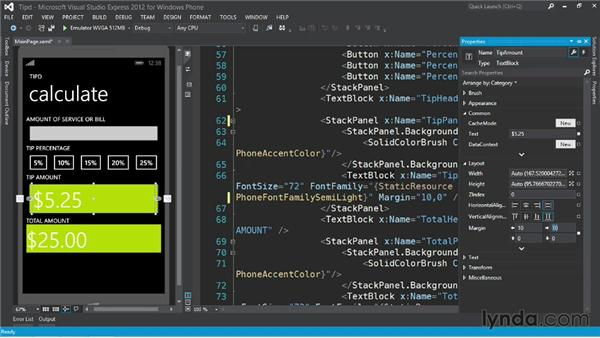 Working with margins: Up and Running with Windows Phone 8 Development