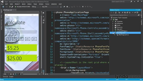 Understanding the starter code and code behind: Up and Running with Windows Phone 8 Development