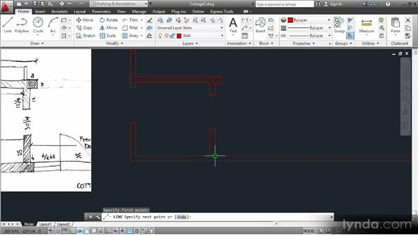 Fitting together the pieces of the puzzle: Creating an Architectural Drawing with AutoCAD 2013