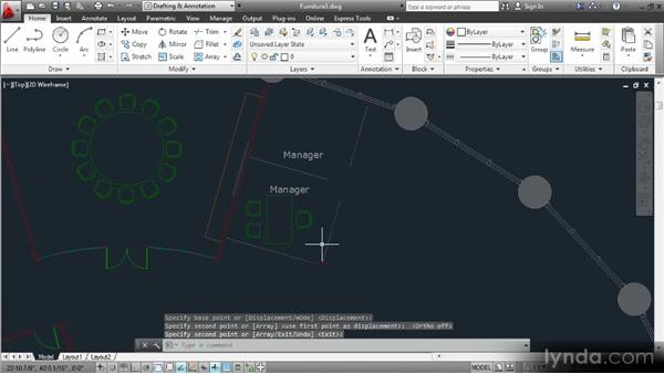 Arranging furniture in open office spaces: Space Planning with AutoCAD 2013