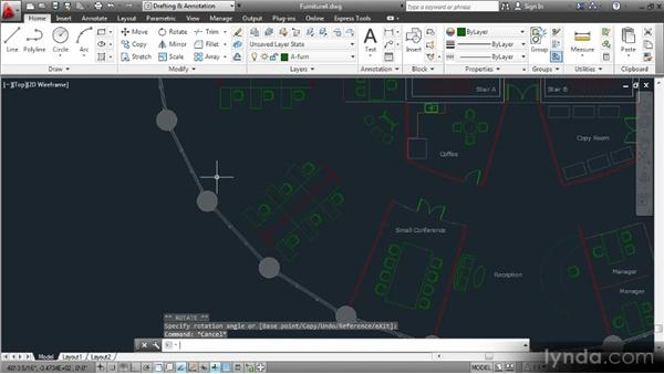 Arranging furniture in enclosed rooms: Space Planning with AutoCAD 2013