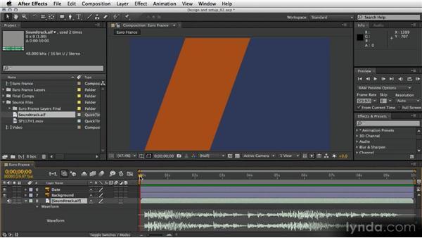 Importing into After Effects: After Effects Artist in Action: Eran Stern's Broadcast Design