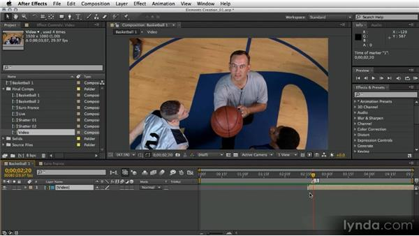 Creating a 3D basketball: After Effects Artist in Action: Eran Stern's Broadcast Design