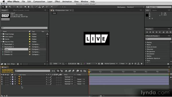 "Preparing the ""LIVE"" word animation: After Effects Artist in Action: Eran Stern's Broadcast Design"