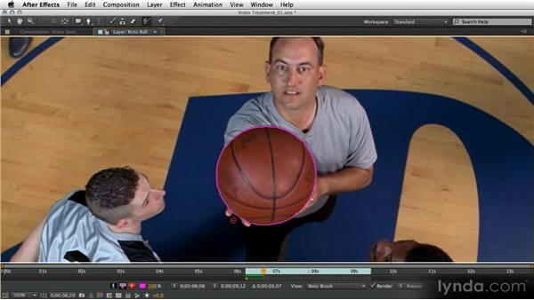 Basketball rotoscope: After Effects Artist in Action: Eran Stern's Broadcast Design