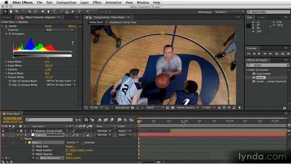 Adding focus and a vignette: After Effects Artist in Action: Eran Stern's Broadcast Design