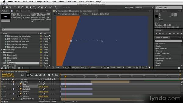 Animating the introduction: After Effects Artist in Action: Eran Stern's Broadcast Design