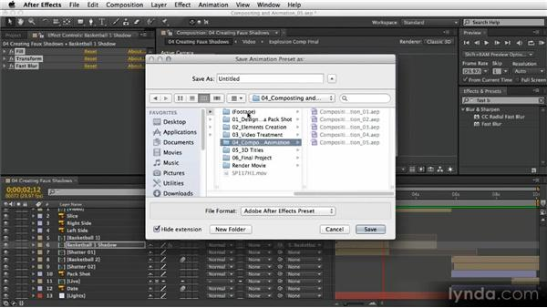 Creating faux shadows: After Effects Artist in Action: Eran Stern's Broadcast Design