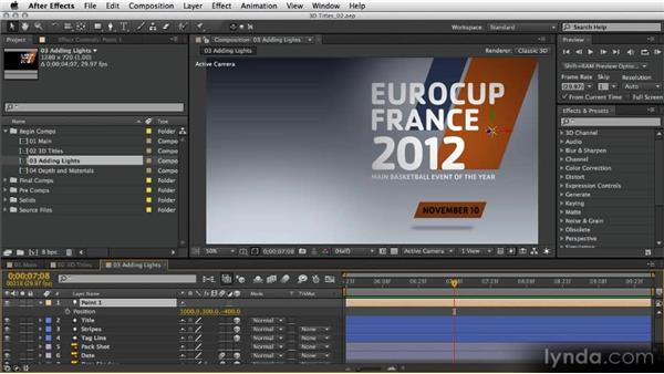 Adding lights: After Effects Artist in Action: Eran Stern's Broadcast Design