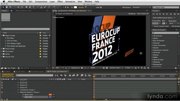 Depth and materials: After Effects Artist in Action: Eran Stern's Broadcast Design