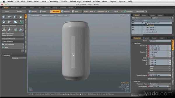Intro to 3D for product visualization: Modeling for Product Visualization in MODO