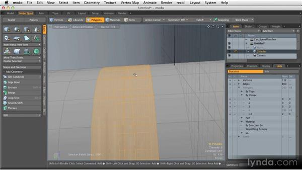 Creating selections: Modeling for Product Visualization in MODO