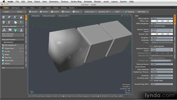 Smoothing polygons: Modeling for Product Visualization in MODO